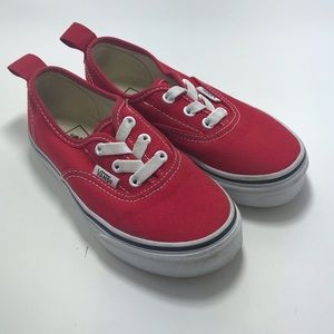 Vans red toddler shoes SZ:12